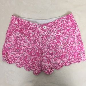 Lilly Pulitzer Pink Paisley Buttercup Shorts 6